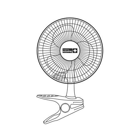 Ventilateur à pince clipfan pro